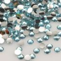 Jewel Embellishments, Resin, Light blue, Faceted Discs, 3mm x 3mm x 1mm, 300  pieces, [ZSS029]